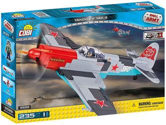 Stavebnice COBI 5529 II World War Bojový letoun Jakovlev JAK3/235 kostek+1 figurka