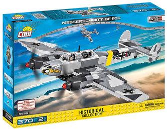 Stavebnice COBI 5538 II World War Stíhačka Messerschmitt BF110 C/370 kostek+2 figurky