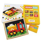 Wooden Pixel: Auta: dřevěná mozaika 400 kostiček a 7 předloh