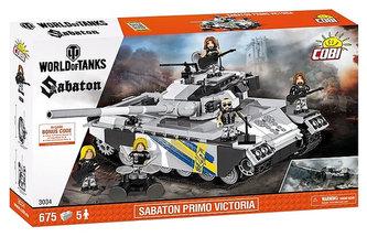 Stavebnice COBI 3034 WORLD of TANKS Tank Sabaton Primo Victoria/675 kostek+5 figurek