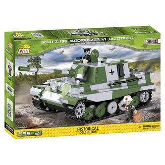 Stavebnice COBI 2484A II World War Tank Jagdpanzer VI Jagdtiger/555 kostek+2 figurky