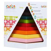 Barevná pyramida: dřevěná skládačka 9 dílů