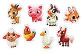 Domácí zvířátka: naučné puzzle 8 zvířátek: 16 dílků