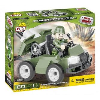 Stavebnice COBI 2152 Small Army Podpůrné vozidlo pěchoty/ 60 kostek+1 figurka