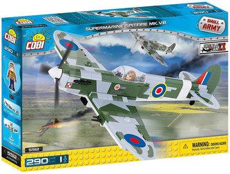 Stavebnice COBI 5512 II World War Stíhací letoun Spitfire/290 kostek+1 figurka