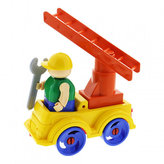 Stavebnice BAUER: Auto se žebříkem - malý set