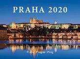 Kalendář nástěnný 2020 - Praha / Prague / Prag, 33,5 x 29 cm