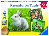 Roztomilý králíček; 3x49 dílků