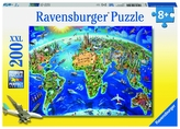 Velká mapa světa; 200 dílků