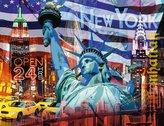 New York koláž 2000 dílků