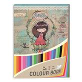 Blok barevných papírů 32x24cm Anekke