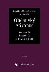 Občanský zákoník (zák. č. 89/2012 Sb.). Komentář, IV. svazek (dědické právo)