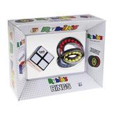 Rubikova kostka 2x2 + skladánka prsteny