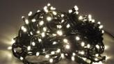 VENKOVNÍ SVĚTELNÝ LED ŘETĚZ, 17,9 m 2700K