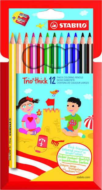 STABILO Trio thick - sada 12 ks