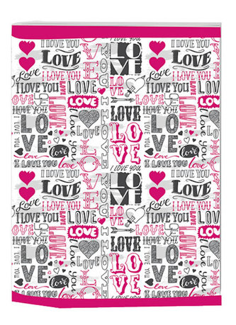 Sešit A4 Trend linkovaný Love
