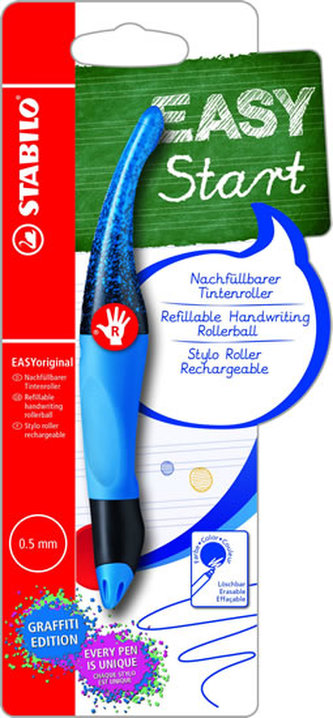 STABILO EASYoriginal Graffiti modrá Pravák a 1 náplň M modrá