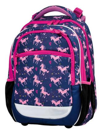 STIL Školní batoh Pink Růžový jednorožec