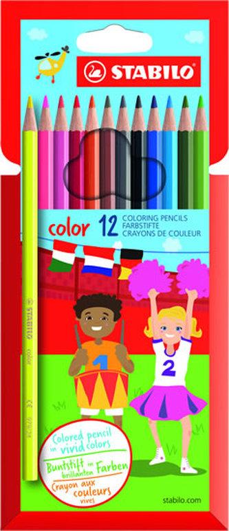 STABILO color - sada 12 ks