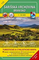 Šarišská vrchovina Branisko 1:50 000