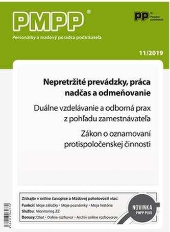 PMPP 11/2019 Nepretržité prevádzky, práca nadčas a odmeňovanie