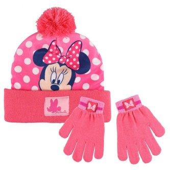 zimní set-čepice, rukavice Minnie