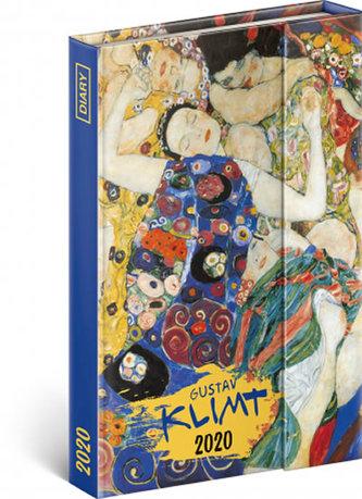 Diář 2020 - Gustav Klimt - týdenní, magnetický, 11 × 16 cm