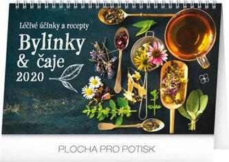 Kalendář stolní 2020 - Bylinky a čaje, 23,1 × 14,5 cm