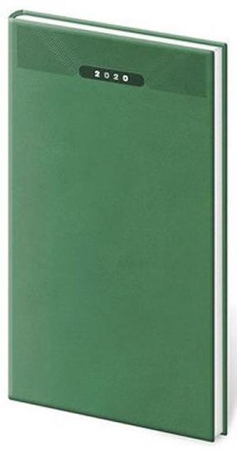 Diář 2020 - Print/týdenní/kapesní/zelená