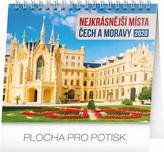 Nejkrásnější místa Čech a Moravy - stolní kalendář 2020