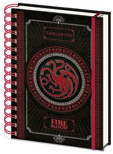 Zápisník Game of Thrones - Targaryen A5