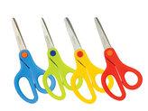 Nůžky školní 13 cm asymetrické, mix barev
