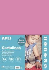 Barevný papír A4 170 g - růžový 50 ks