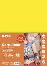 Barevný papír A4 170 g fluo - žlutý 50 ks