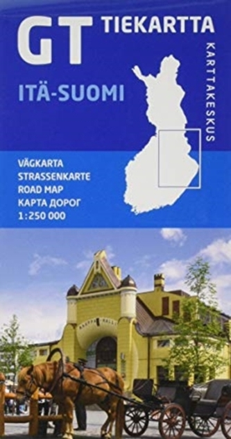 FINLAND OOST ITSUOMI ROAD MAP
