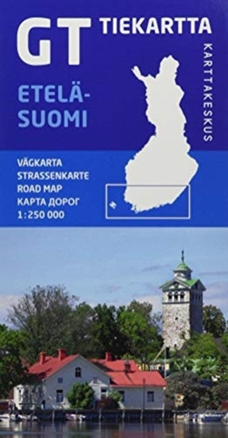 FINLAND SOUTHERN ETELSUOMI ROAD MAP