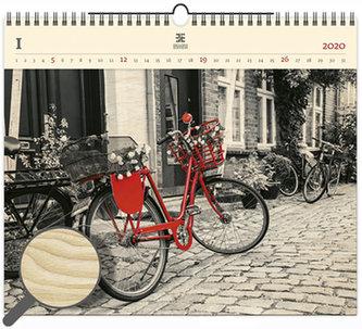 Kalendář nástěnný dřevěný 2020 - Bicycle