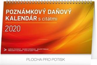 Stolový kalendár Poznámkový daňový s citátmi 2020