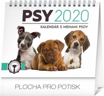 Stolní kalendář Psy – s menami psov 2020