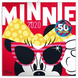 Kalendář poznámkový 2020 - Minnie, s 50 samolepkami, 30 × 30 cm