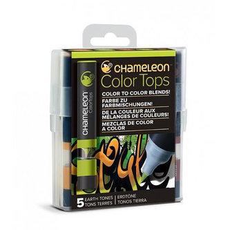 Set Chameleon Color Tops, 5ks - zemité tóny