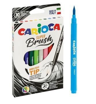 CARIOCA štětcová pera Super Brush 10 ks