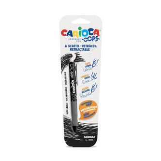 CARIOCA OOPS  vysouvací a mazací kuličkové pero - černé