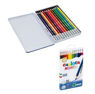 CARIOCA akvarelové pastelky v plechové krabičce 12 ks