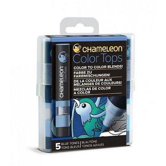 Set Chameleon Color Tops, 5ks - modré tóny