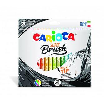 CARIOCA štětcová pera Super Brush 20 ks