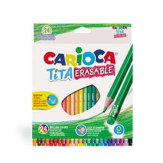 CARIOCA TITA gumovatelné pastelky nelámavé 24 ks