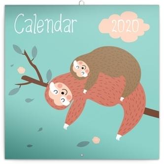 Poznámkový kalendář Šťastní lenochodi 2020
