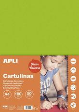 Barevný papír A4 170 g fluo-zelený 50 ks