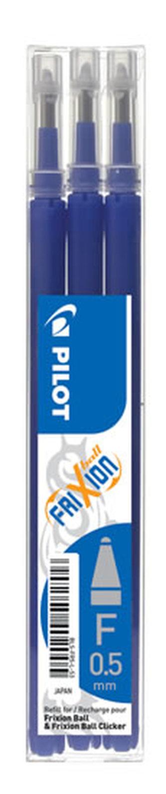 PILOT náplň FriXion 05 modrá-sada 3ks